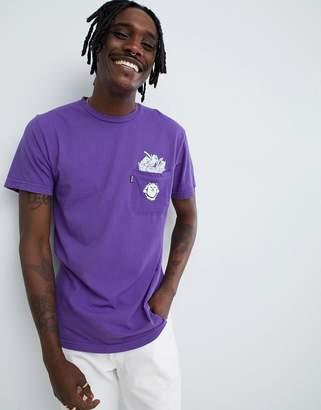 N. Rip Dip RIPNDIP stuffed t-shirt with pocket in purple