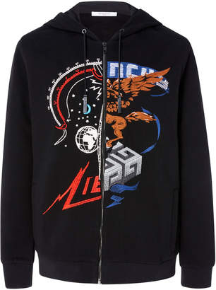 Givenchy Embroidered Cotton Hoodie