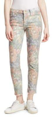 Mother Looker Mid-Rise Ankle Skinny Jeans