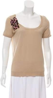 Louis Vuitton Embellished Wool Top