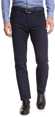 Ermenegildo Zegna Slim-Fit Straight-Leg Jeans, Navy $375 thestylecure.com