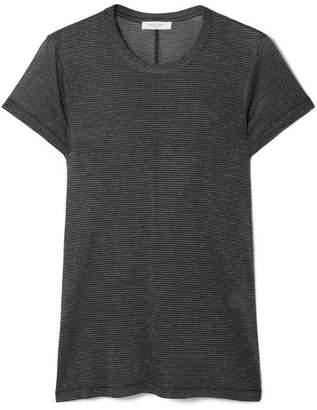 Rag & Bone Dawson Striped Lurex T-shirt - Black