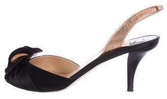 O Jour Peep-Toe Slingback Sandals
