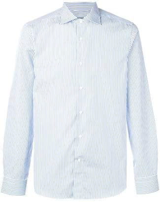 Canali striped slim shirt