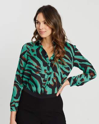 Wallis Speamint Zebra Shirt