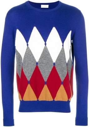 Ballantyne argyle print jumper