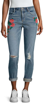 ARIZONA Arizona Embroidered Rose Jeans-Juniors $54 thestylecure.com