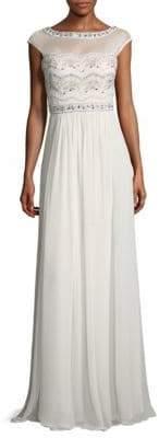Embellished Floor-Length Dress