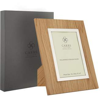 "Carrs of Sheffield Silver Oak Boardered Picture Frame (6""x4"")"