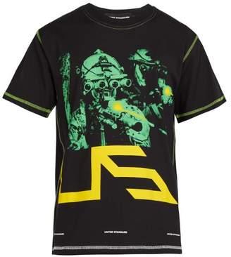 United Standard - Night Vision And Logo Print Cotton T Shirt - Mens - Black