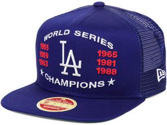 c06c3d70212f9 New Era Los Angeles Dodgers Team Front Trucker 9FIFTY Snapback Cap