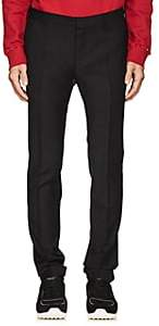 Valentino Men's Plain-Weave Wool-Mohair Slim Trousers-Black