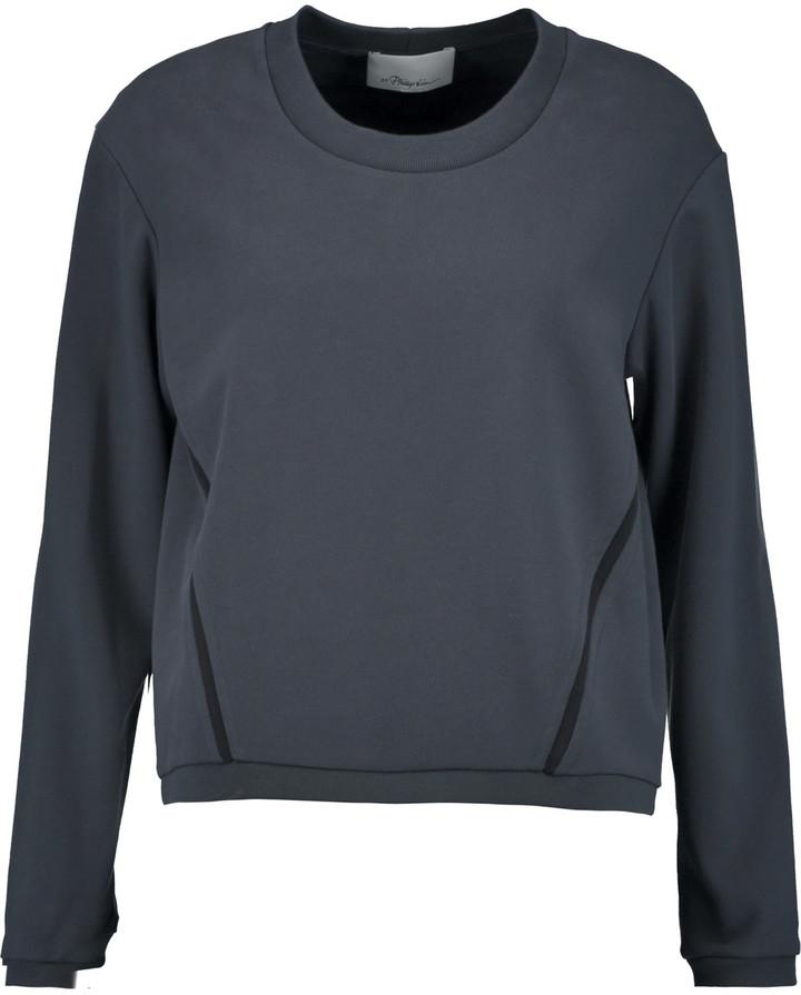 3.1 Phillip Lim3.1 Phillip Lim Silk-trimmed cotton sweatshirt