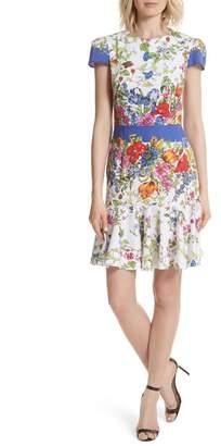 Milly Karissa Floral Stretch Cotton Dress