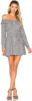 L'Academie x REVOLVE Jann Button Up Dress in Black & White $158 thestylecure.com