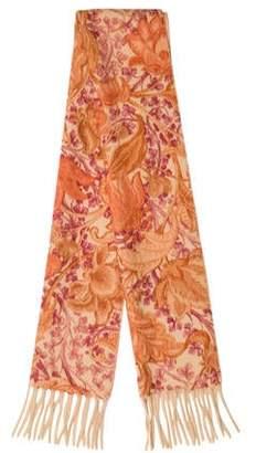 Loro Piana Floral Pattern Cashmere Scarf