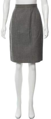 Valentino Knee-Length Wool Skirt