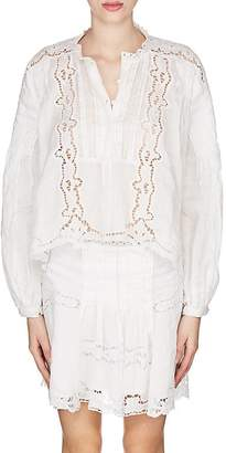 Isabel Marant Women's Maly Embroidered Voile Blouse