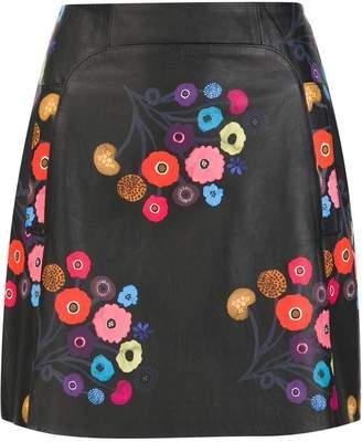 Tanya Taylor floral print mini skirt