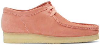 Clarks Pink Suede Wallabee Moccasins