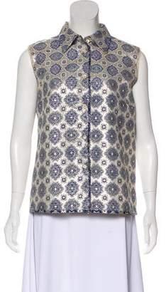 Prada Brocade Button-Up Top