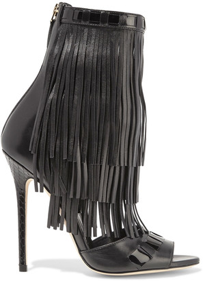 Brian Atwood Abby fringed leather sandals $1,395 thestylecure.com