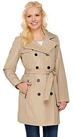 Liz Claiborne New York Double Breasted TrenchCoat w/Quilting