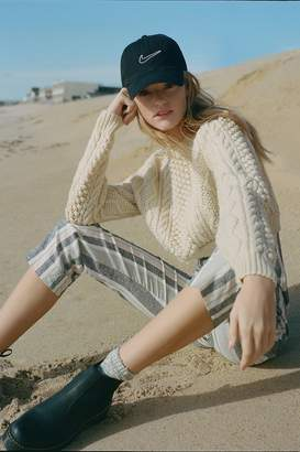 Urban Renewal Vintage Recycled Fisherman Crew-Neck Cropped Sweater