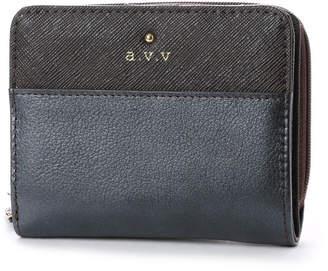 a.v.v (アー ヴェ ヴェ) - アー ヴェ ヴェ a.v.v ラウンドファスナー二つ折財布 (ブラック)