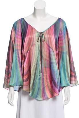 Elizabeth and James Silk Printed blouse