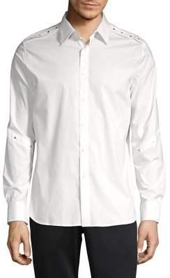 Karl Lagerfeld Studded Long-Sleeve Shirt