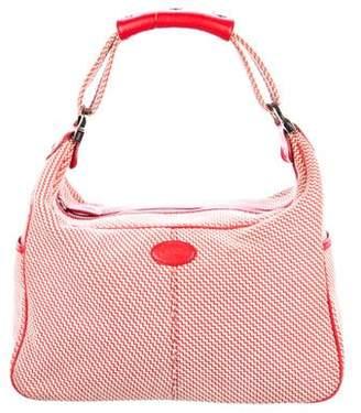 Tod's Woven Zip Shoulder Bag
