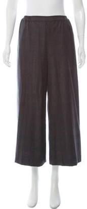 eskandar Plaid High-Rise Pants