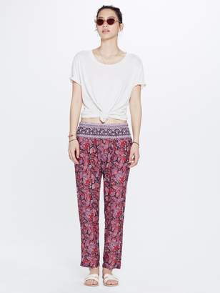 Paige Xirena XiRENA Avedon Printed Gauze Pant - Red
