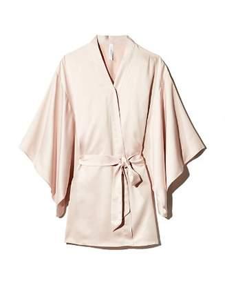 Flora Nikrooz April Charmeuse Kimono-Sleeve Robe