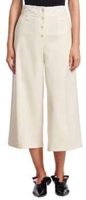 Proenza Schouler Stretch Wool Wide-Leg Pants