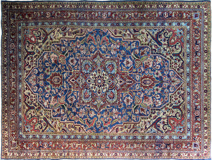 One Kings Lane Vintage Antique Heriz Rug, 8'5 x 11'1