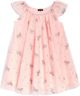 Zunie Unicorn Glitter Tulle Dress