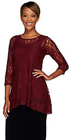 Women with Control Attitudes by Renee Lace Tunic and Jersey KnitTank Set