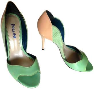 Pollini Green Leather Heels