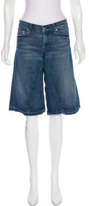 7 For All Mankind Denim Knee-Length Shorts