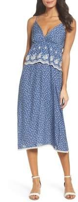 Fraiche by J Embroidered Midi Dress