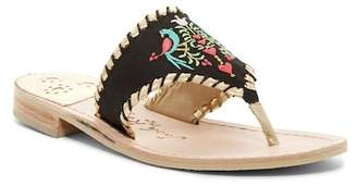 Jack Rogers Parrots Embroidered Sandal