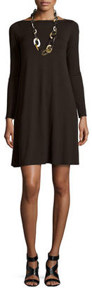 Eileen Fisher Long-Sleeve A-line Dress, Petite $198 thestylecure.com