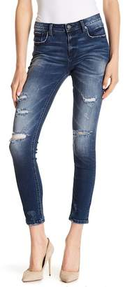 Miss Me Whiskered & Distressed Skinny Jeans