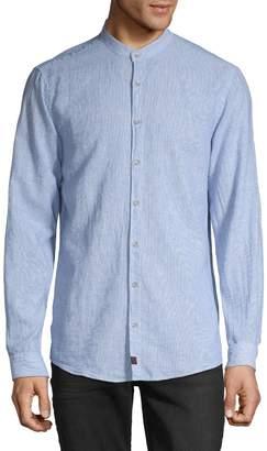 Tommy Hilfiger Mandarin-Collar Button-Down Shirt