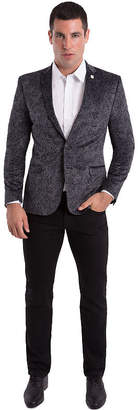 Asstd National Brand Nick Graham Grey Paisley Woven Sport Coat Slim Fit