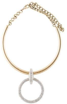 Chanel Crystal O Ring Collar Necklace