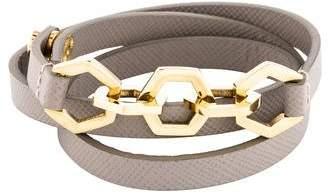 Tory Burch Hexagon Leather Triple Wrap Bracelet