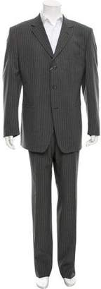 Versace Wool Pinstripe Suit w/ Tags